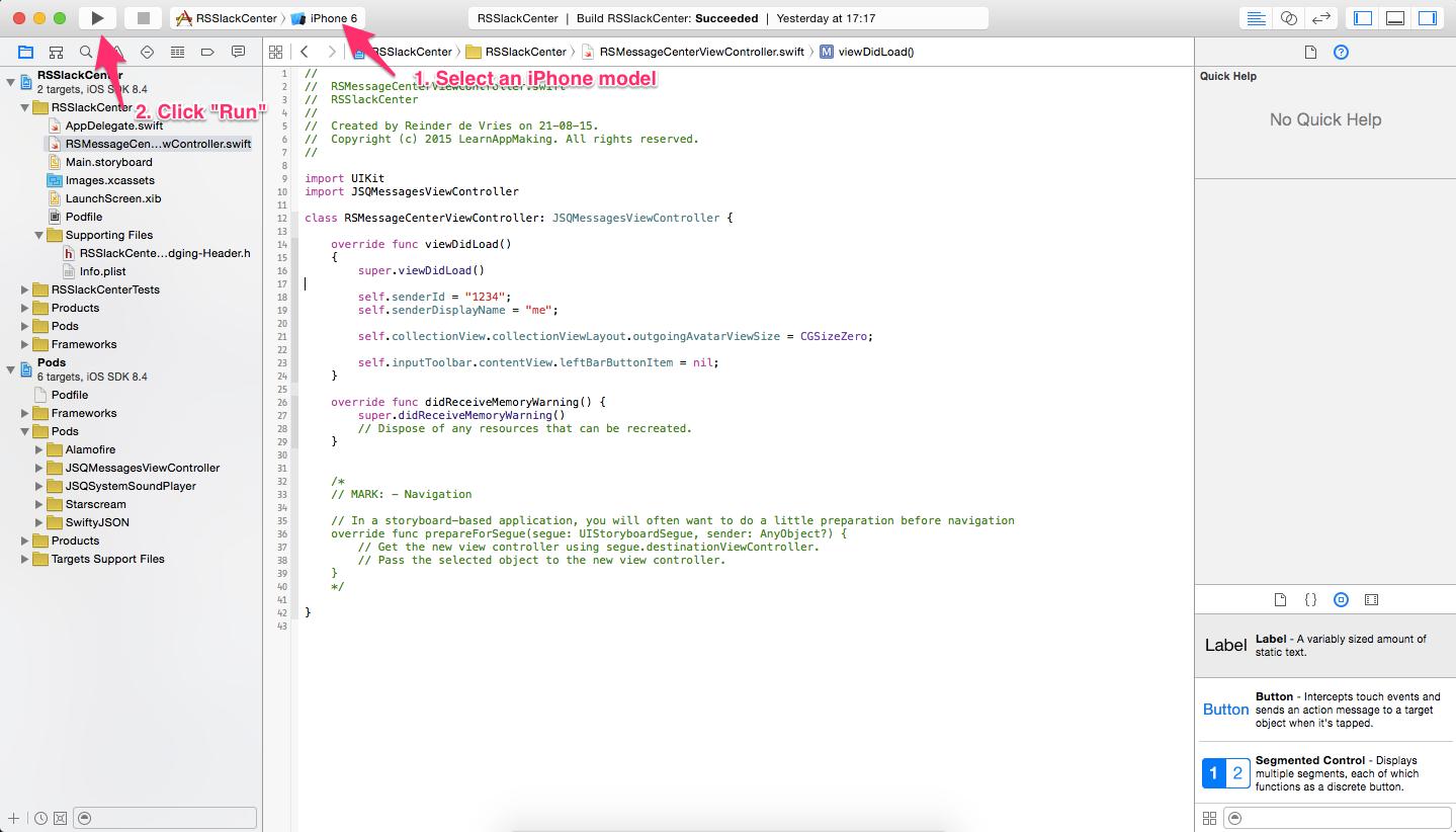 Xcode: Run