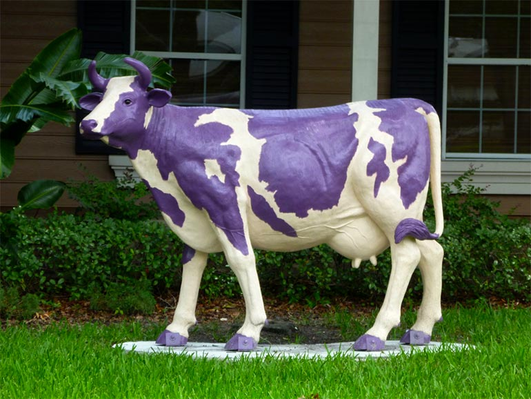 A Purple Cow by Richard Elzey