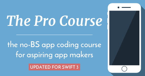 The Pro Course - the no-BS app coding course for aspiring app makers