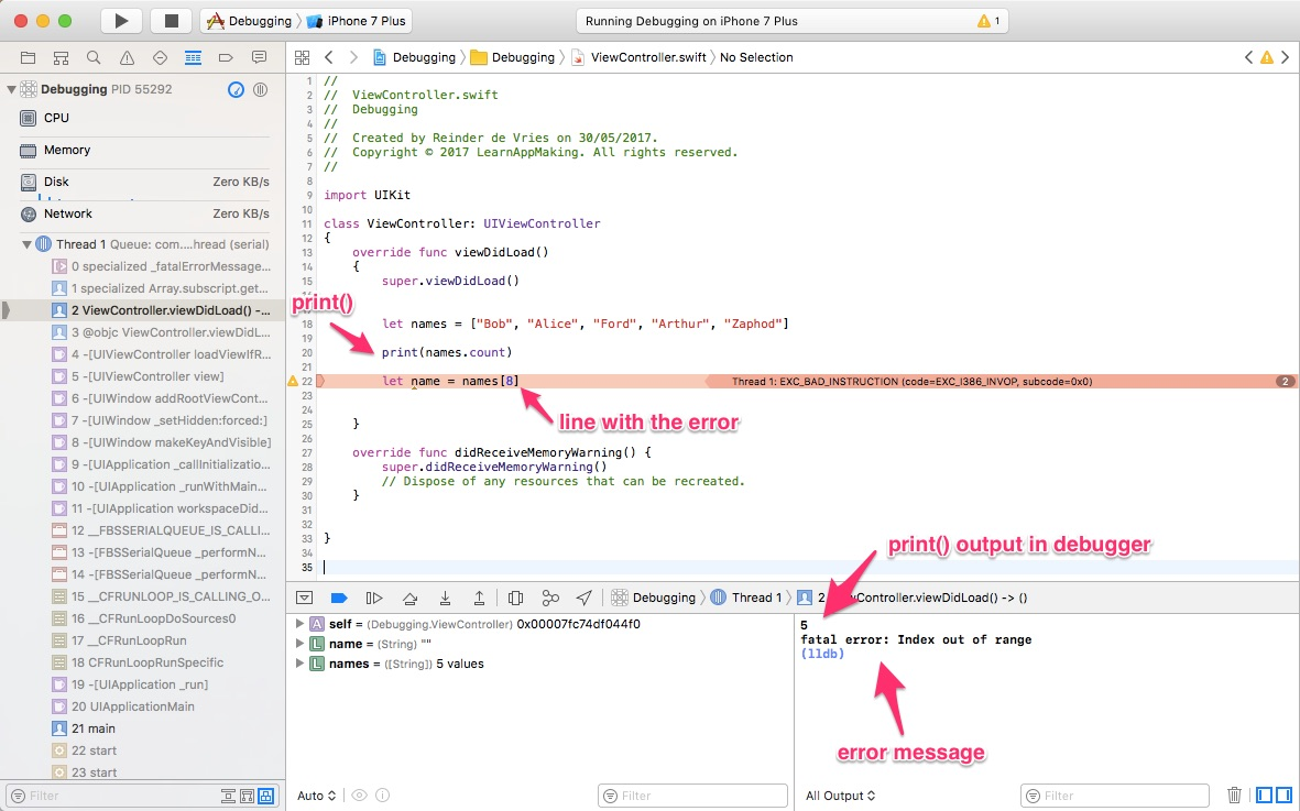 How To Find And Fix Bugs With Xcode Debugging