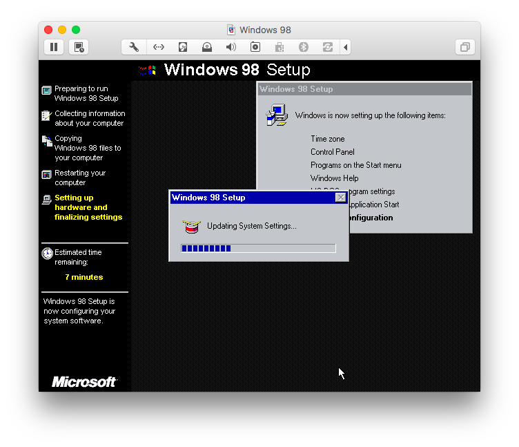Windows 98 Setup