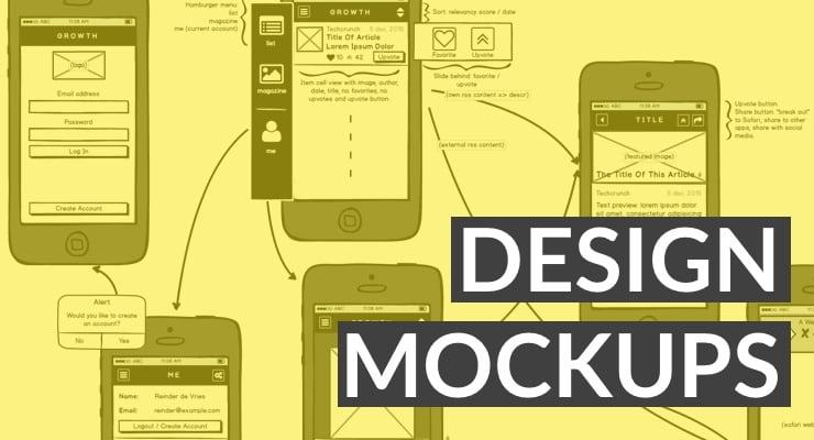 Mockups and App Design