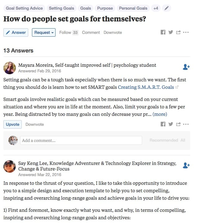 Market Research on Quora