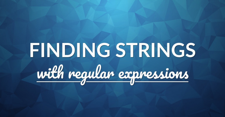 How To Find Strings With Regular Expressions In Swift