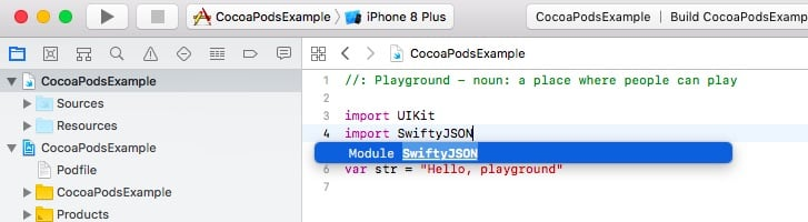 Using CocoaPods With Xcode Playground – LearnAppMaking