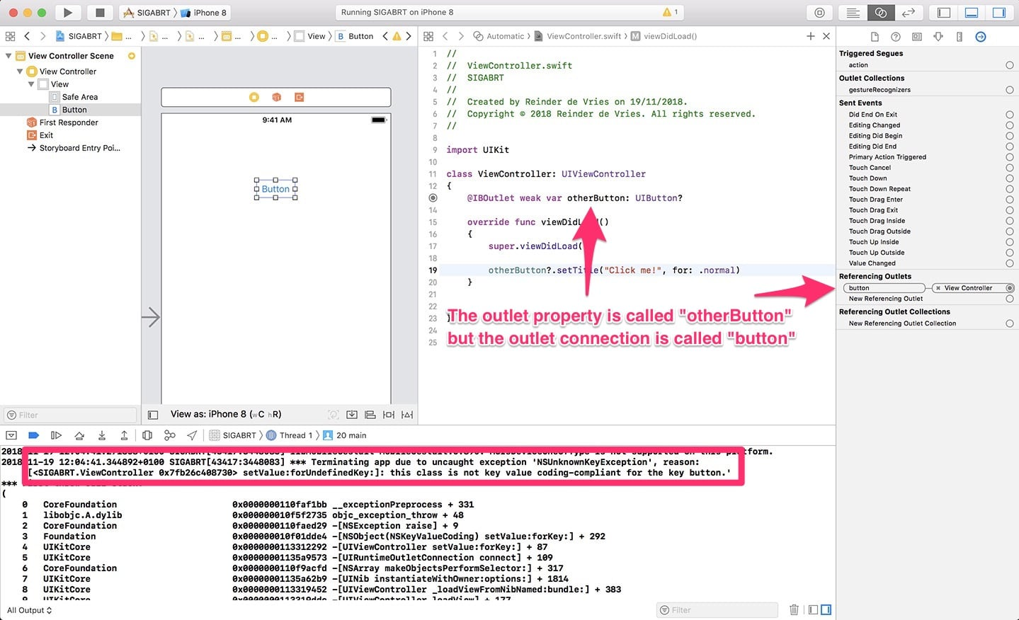 How To Solve SIGABRT Error In Xcode – LearnAppMaking