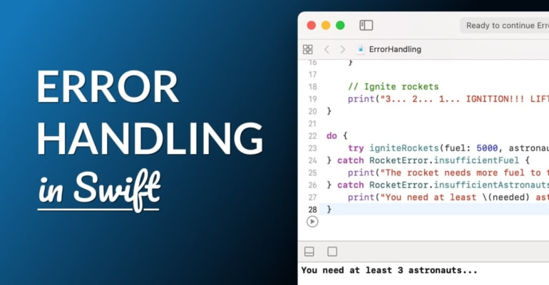 Error Handling with Try and Catch in Swift