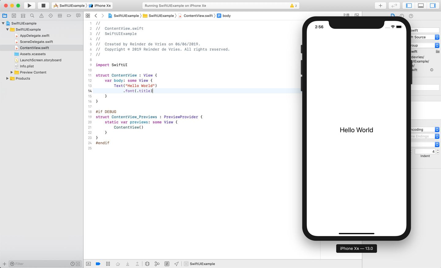 SwiftUI Hello World