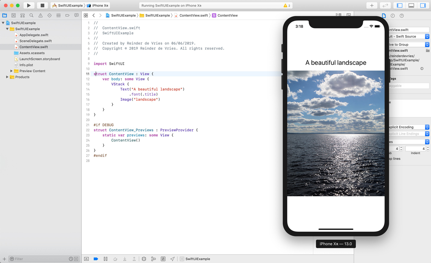 SwiftUI VStack Example