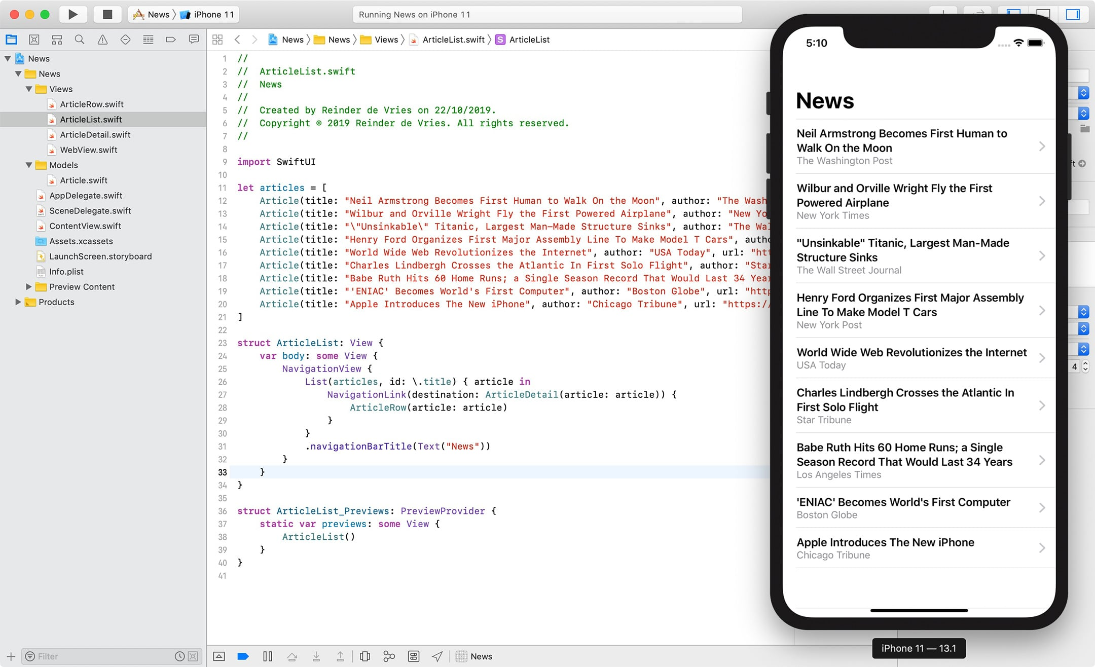 How to make an app – Xcode 11