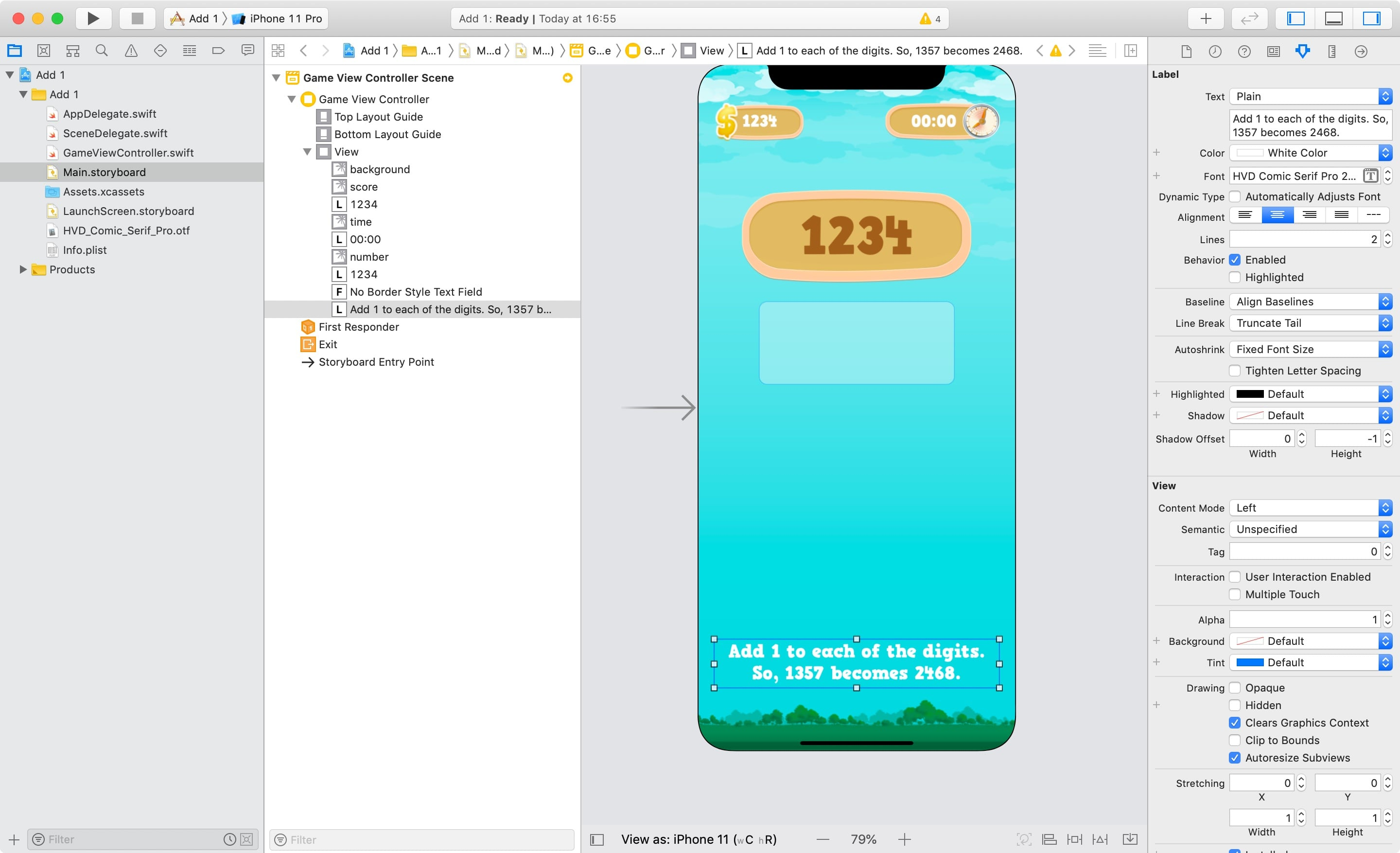 Finished UI in Xcode!