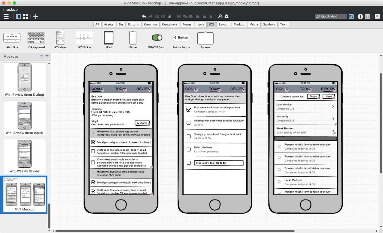 App Idea, Balsamiq Mockups