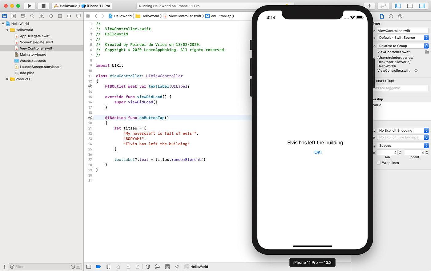 Build an app with Xcode