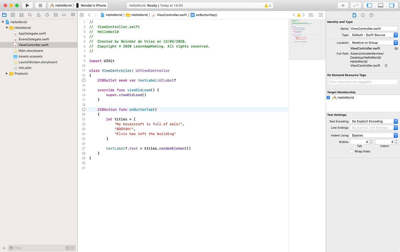 Coding Swift