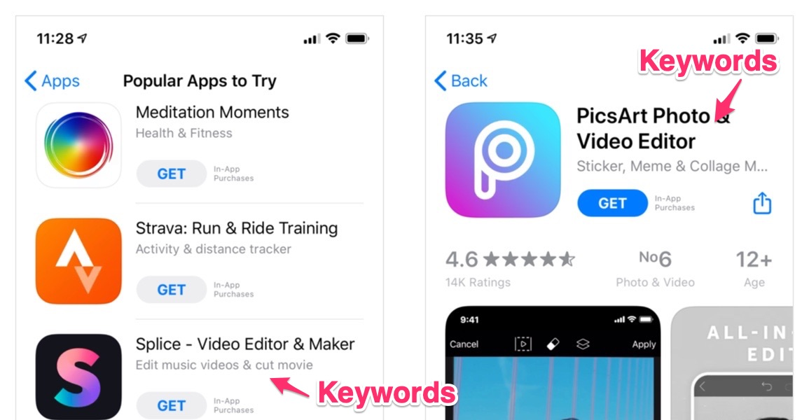 App Store Optimization, Keywords, Rating, App Title, Icon