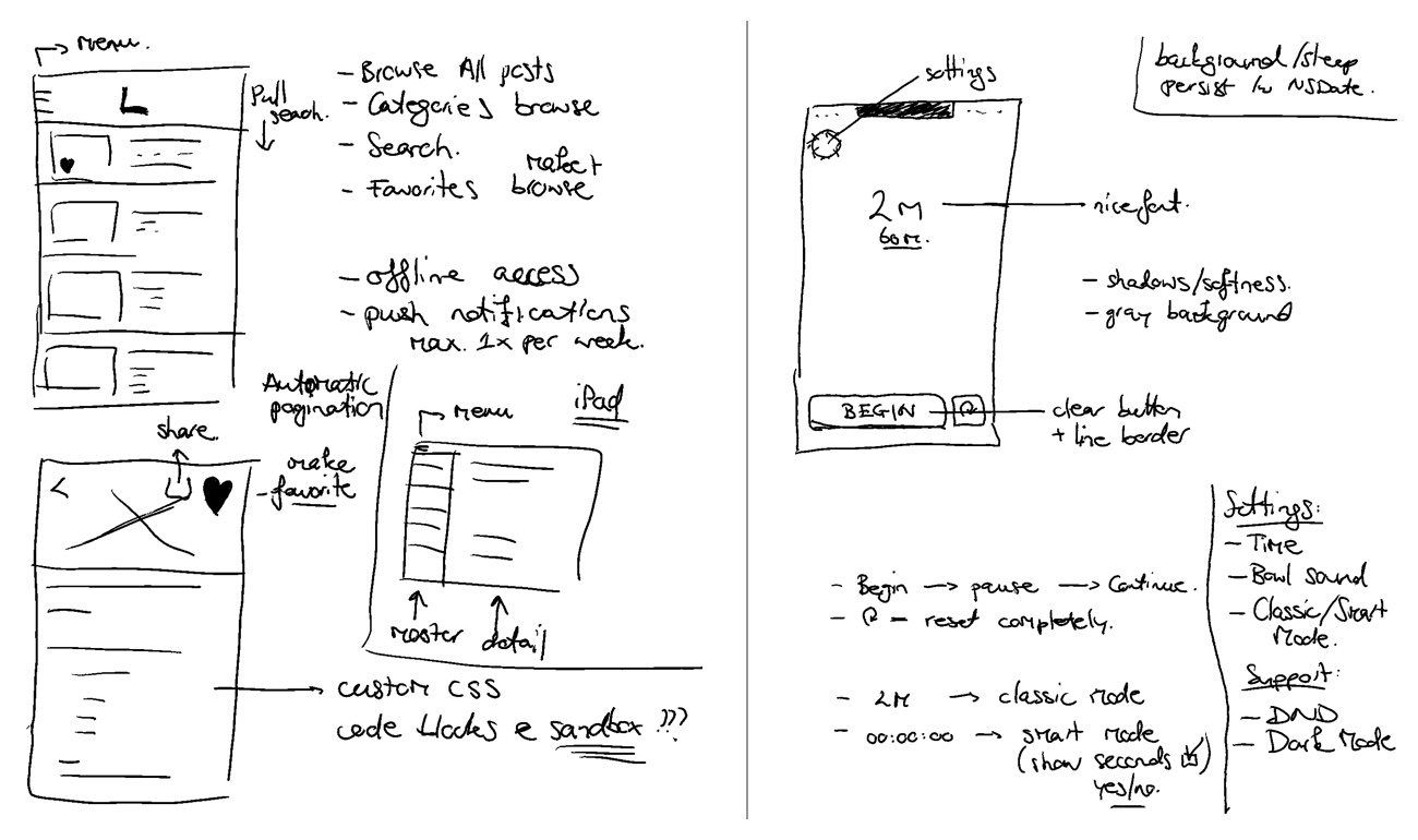 Sketch your app with pen and paper