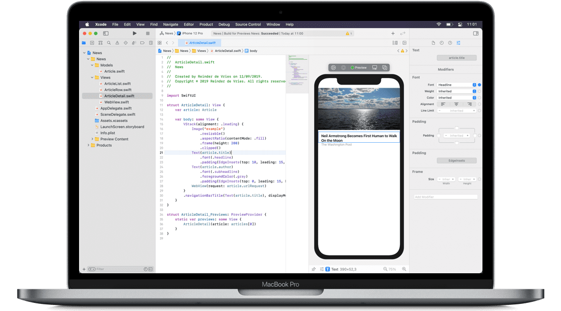 Learn to code iOS 14 apps with Xcode 12 and Swift 5