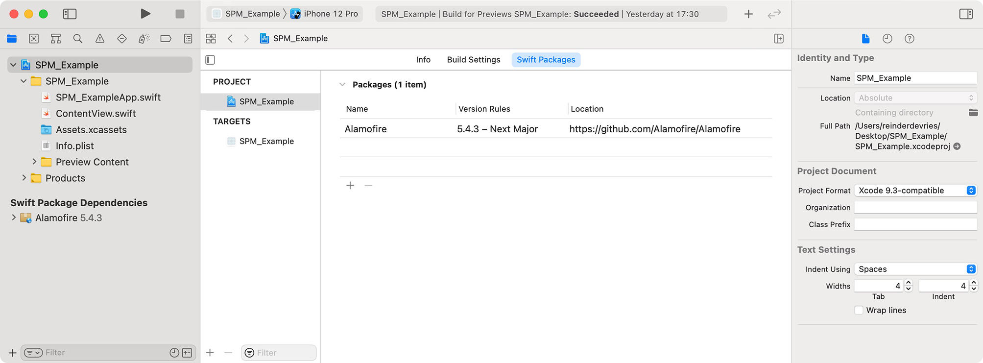 Swift Packages overview in Xcode
